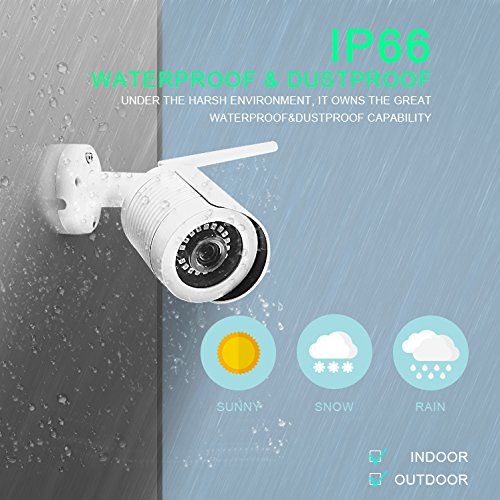 OWLIV 720P 1.0MP + 1TB Hard Disk Smart WIFI IP Camera System 4CH Kit Indoor/Outdoor Waterproof Night Vision HD Wireless Video Surveillance With 1TB Hard Drive by Owliv (Image #3)