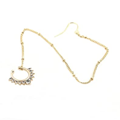 Amazon Fake nose ring with Chain Fake septum jewelry Nose