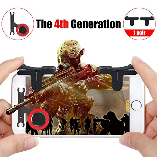 Mobile Game Controller, Sensitive Shoot and Aim Buttons for PUBG/Fortnite/Knives Out/Rules of Survival, Phone Game Joystick, Touch Screen Rocker for Android/IOS (Buttons and Rocker) by Heptagram
