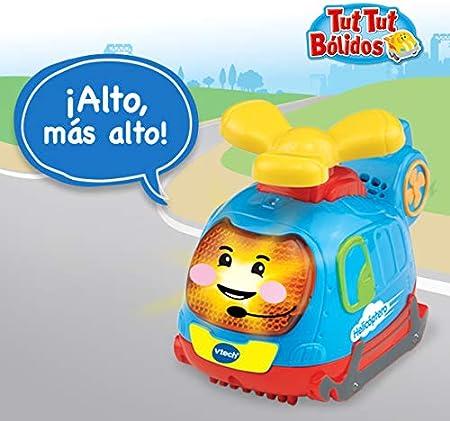 VTech TutTut Bólidos Pack de 3 Coches con botón Sorpresa, Piero el camión de Bomberos, Víctor el Tractor y Mateo el helicóptero, Multicolor, única (3480-242122)