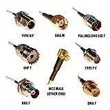 RTL-SDR Blog MCX Male to SMA F, SMA M, BNC F, Type N F, Type F F, UHF F, PAL F RG316 20cm Pigtail Adapters Bundle
