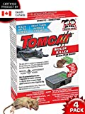 Tomcat MOUSE KILLER Disposable 4 Pack Bait Station for Mice