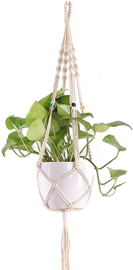 Stile giardino interno foderato in tessuto di iuta corda da appendere casa Pianta Fioriera Basket PENTOLA