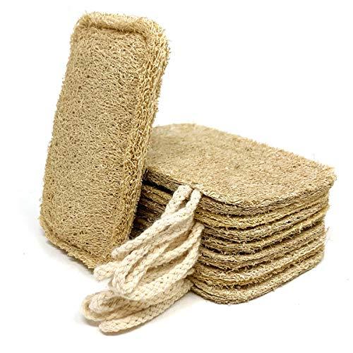 Eco-spons voor natuurlijke vaatwasser (8 stuks) | Eco-vriendelijke, plasticvrije en biologisch afbreekbare loofah-spons…