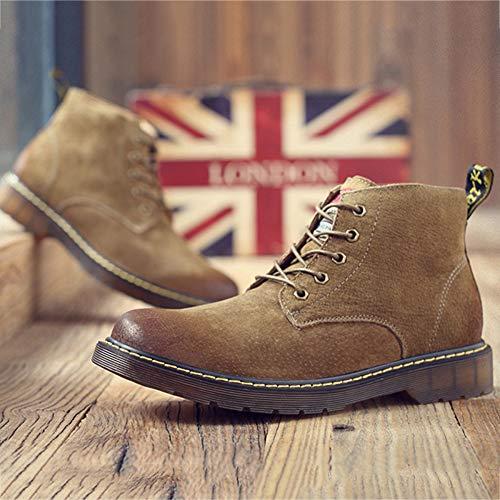 Up Autunno Lace in Fashion Pelle Martin Stivali Boots Utensili Stivali Desert Scamosciata retr Retro 8fpXUxq