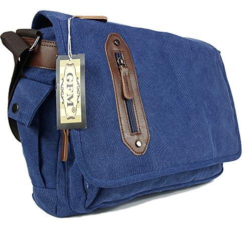 Lienzo bolso bandolera de boda de estilo clásico bolso bandolera para - School, college, Uni, oficina, viajar o para el Casual para accesorios del bebé Large - #02NL - Blue