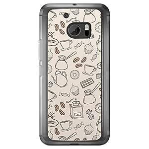Loud Universe HTC M10 Bakery Printed Transparent Edge Case - Beige