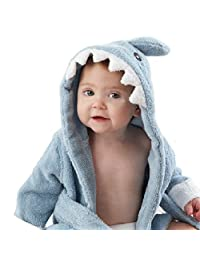 Careu Baby Bathrobe Terry Cloth Hooded for Ages 0-3 Years Old