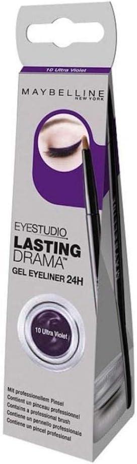Maybelline Eye Studio Lasting Drama Gel Eyeliner 24hr 10 Ultra Violet Amazon Co Uk Beauty