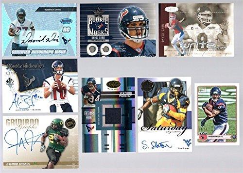 HOUSTON TEXANS 25 CARD LOT JJ WATT DAVID CARR JOHNSTON AUTO JERSEY ROOKIE RC SP