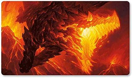 Alfombrilla de Juego para Juegos de Mesa con diseño de dragón volcánico para Juegos de Mesa MTG, tamaño 60 x 35 cm, Alfombrilla para ratón para Yugioh Pokemon Magic The Gathering: Amazon.es: