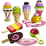 Dragon Drew Ice Cream Toy - Pretend Ice Cream Set - Ice Cream Set for Kids - Wooden Ice Cream Set