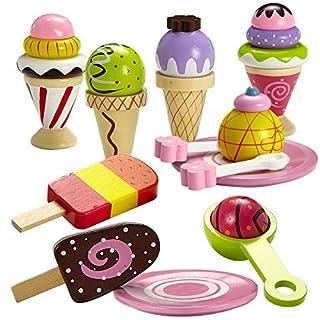 Dragon Drew Ice Cream Toy - Pretend Ice Cream Set - Ice Cream Set for Kids - Wooden Ice Cream Set