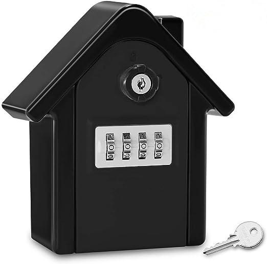 Caja Fuerte Con Llave Caja De Seguridad Montada En La Pared, Caja ...