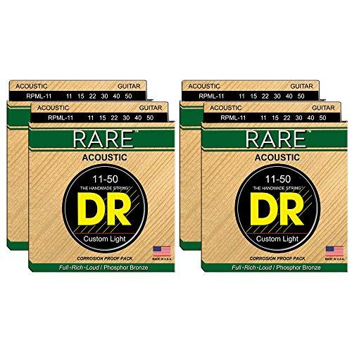 - DR Strings RPML-11 Rare Acoustic PB 11-50 4 Pack Bundle