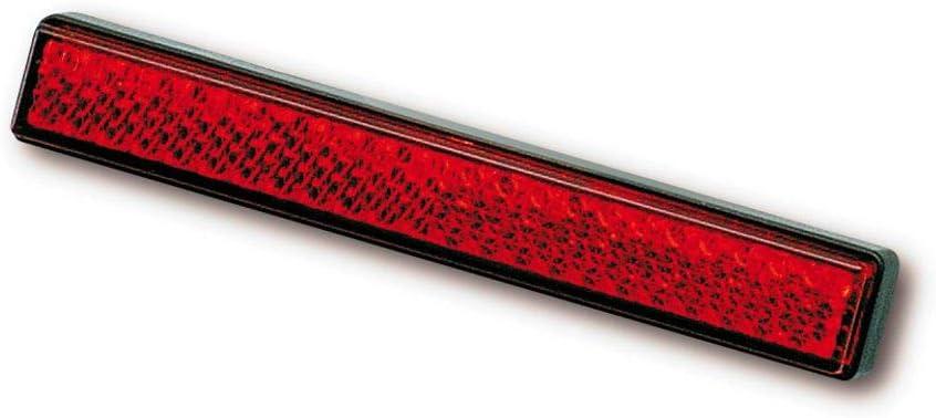 Daytona Rückstrahler 103 X 16 Mm Selbstklebend Unisex Multipurpose Ganzjährig Kunststoff Rot Auto