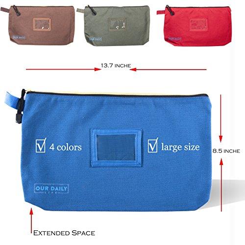 Buy canvas zipper pouch dozen