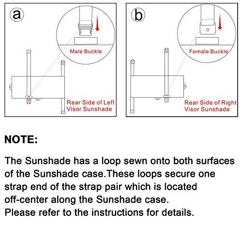 TFY Car Visor Extender Anti-Glare Sun Visor Extender Window Sunshade and UV Rays Blocker Black 2 Pieces