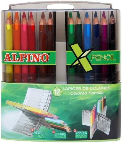 Alpino - Estuche de 12 lápices (Massats AL000322): Amazon.es: Juguetes y juegos