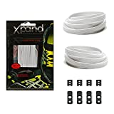 Xpand No Tie Shoelaces System with Elastic Laces - White - One Size Fits All Adult and Kids Shoes: more info