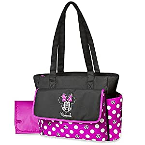 Amazon Com Disney Minnie Mouse Diaper Bag Amp Changing Pad