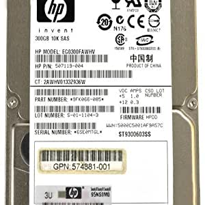 EG0300FAWHV - SFF EG0300FAWHV HP 300 GB 10 K 6 G SAS DISCO DURO