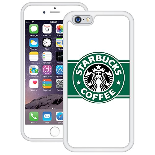 Starbucks | Handgefertigt | iPhone 6 6s (4,7') | Weiß TPU Hülle