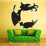 Wall Vinyl Sticker Decals Decor Art Bedroom Design Mural Cartoon Funny Witch Hag Beldam (Z460)