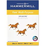 "Hammermill Paper, Fore MP, 20lb, 210mm x 297mm (8-3/10"" x 11-7/10), A4, Bright, 500 Sheets / 1 Ream (103036), Made in the USA"