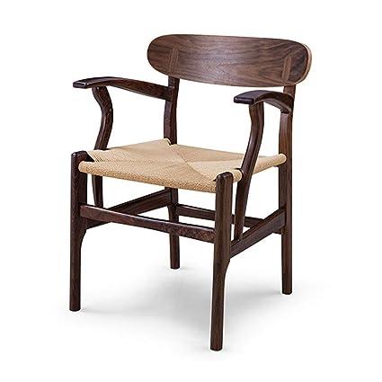 Amazon.com: SUN HUIJIE Silla de hogar de madera maciza silla ...