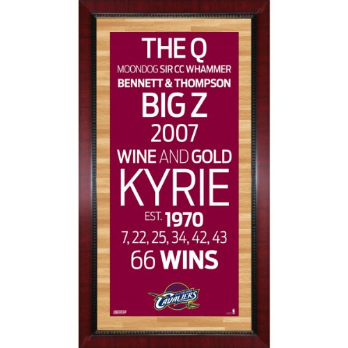 Cavaliers Framed Wall (Framed 16x32 Cleveland Cavaliers Subway Sign Wall Art Photo)