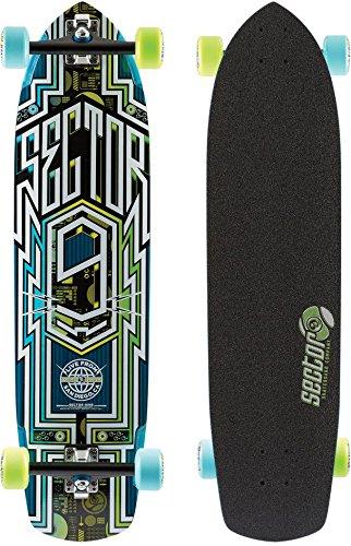 Sector 9 Carbon Flight Complete Skateboard, Blue