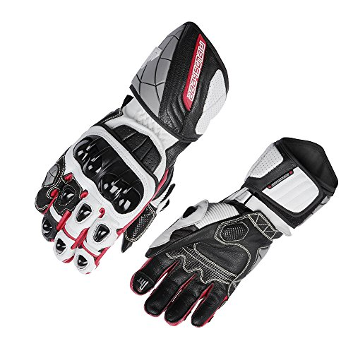 Fieldsheer Unisex-Adult Race-Pro Gloves (Black/White/Red, Medium)