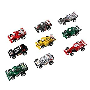 jerryvon Car Toys Pull Back Vehicles Mini Toy Car for Egg Fillers Race Car Model Game Toys Party Favors for Kids, 9PCS