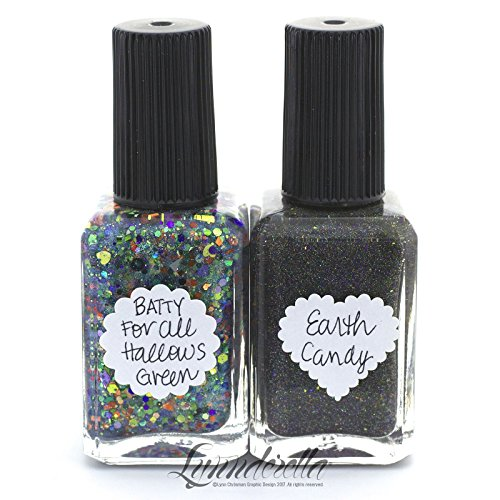Lynnderella Nail Polish Halloween Twinset 2017—Batty for All Hallow's Green and Earth Candy for $<!--$30.00-->