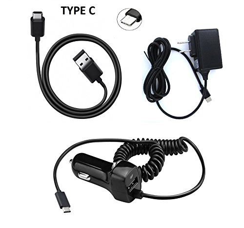 Type C Bundle USB + Wall + Car Charger LG Q7+ Q7 Plus + Gift Stand