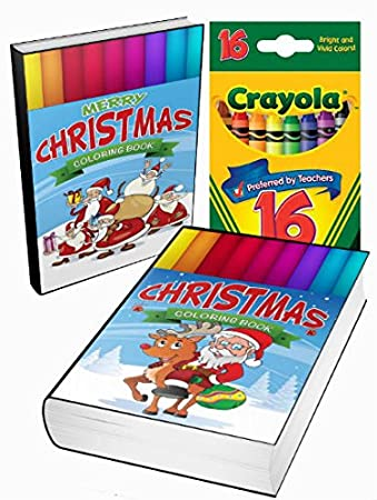premium christmas coloring books set santa claus is coming to town crayons and coloring books