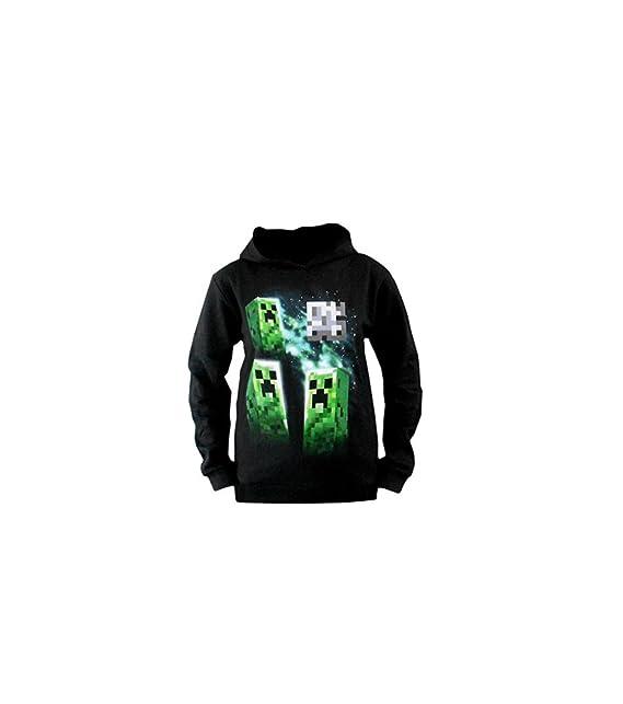 MineCraft - Sudadera con capucha - para niño verde negro: Amazon.es: Ropa y accesorios