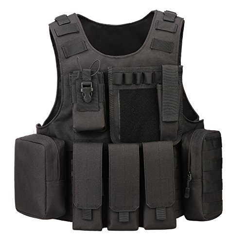 (ArcEnCiel Tactical Molle Vest, Black)