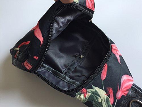 Chest Cross Glory Bag Bag Shoulder Body Nylon Women's Sling Floral Morning fxqRfpY5