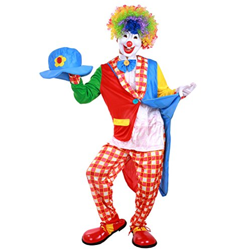 (BESTOYARD Creative Carnival Clown Costume Halloween Masquerade Adult Clown Outfit Party)