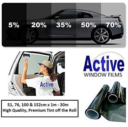 Light /& Ultra Light Car Auto Tint Window Tinting Film 50/% Ultra Light Black 2mx76cm Medium Active Film Limo Black