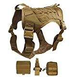 Ultrafun Tactical Dog Harness with Patches Pouches Handle, Molle Vest for Dogs