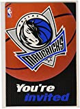 Dallas Mavericks NBA Party Invitation and Thank You