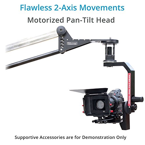 Proaim 10ft Wave-2 Plus Professional Telescopic Jib Crane Production Package with Tripod Dolly & Sr. Pan Tilt Head for DSLR Camera up to 25kg/55lb   Convertible to 10ft, 9ft & 6ft + Bag (P-WV-2PL-PP)