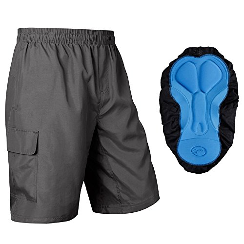 baleaf men's 3d padded mountain bike baggy cargo shorts