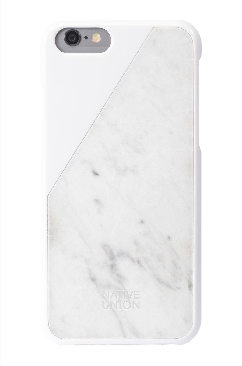 official photos 13928 f0a8e Native Union CLIC Marble case for iPhone 6 - Handcrafted Real Marble  Protective Slim Case Cover (White)