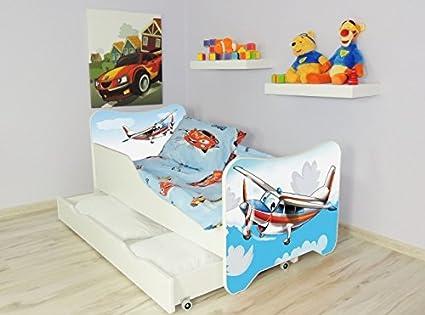 Avión Somier para cama cajón de colchón 140 x 70 cm: Amazon ...