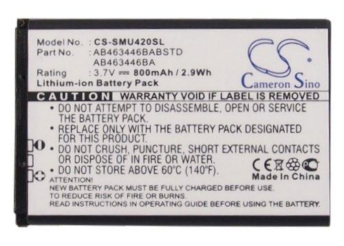(XPS 800mAh Battery for METROPCS Chrono 2 SCH-R270 SCH-R270U SAMSUNGAxle Axle R311 Byline USCELLULARChrono Chrono 2 SCH-R220 and Others PN AB463446BA AB553446BAB/STD BSTDAB553446BA)
