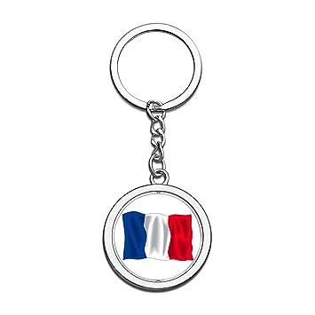 Hqiyaols Souvenir Francia Bandera Nacional Llavero 3D ...